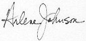 Arlene Signature